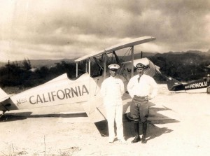 Miss California at John Rodgers Airport, Honolulu, December 1928.