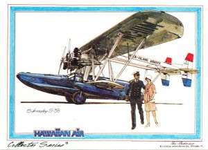 Inter-Island Airways' Sikorsky S-38 amphibian made its initial flight interisland service on November 11, 1929.
