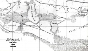 War Department, Corps of Engineers, U.S. Army Map of future John Rodgers Airport area 1922