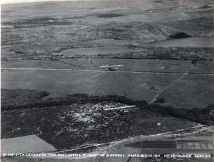Initial flight of Inter-Island Airways Sikorsky amphibian on interisland service, November 11, 1929.