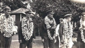 After resting up on Kauai, the crew was transported to Honolulu on the destroyer MacDonough where they were hospitalized for medical examination.