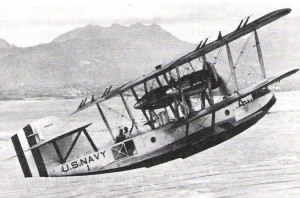 The PN-9 No. 1 in which Commander John Rodgers and his crew flew from San Francisco to Hawaii flies again in Hawaii, 1925.