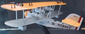 A model of John Rodgers' PN-9 No. 1 aircraft which made a record setting flight from San Francisco to Hawaii.