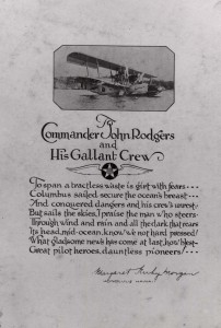 A poem was written about Commander John Rodgers and his Valiant Crew by Honolulu poet Margaret Kirby Morgan.