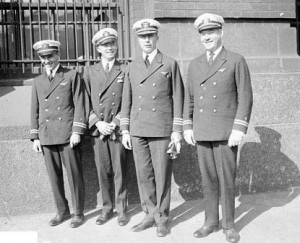 The PN-9 crew: B. J. Connell, W. H. Bowlin, Commander John Rodgers, O.G. Stantz.