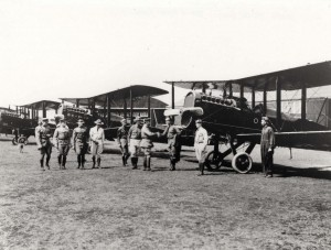 DH-4s at Luke Field during inspection by General Summeral, circa early 1920s.