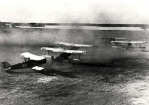 Planes taking off from Luke Field, c1920s.