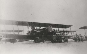 23rd Bombardment Squadron at Luke Field. Aircraft is a Glenn Martin NBS-1, c1924.