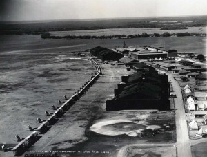 Planes line the runway for an inspection at Luke Field, April 18, 1925.