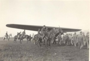 Lts. Lester J. Maitland and Albert F. Hegenberger dropped to 7,000 feet when the carburetor on their Fokker iced up. At 3:20 a.m. on June 29, 1927 they spotted Kauai. They decided to circle Kauai until daybreak. When the sun rose, they spotted Wheeler Field and the smoke of a welcoming field gun salute.