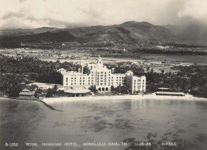 Royal Hawaiian Hotel, Waikiki, December 5, 1928.