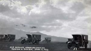 Air Service, Hawaiian Division, passing in review, Schofield Barracks, June 17, 1922.
