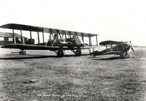 U.S. Army Air Corps Martin Bomber & MB 34A, Schofield Barracks, March 29, 1924
