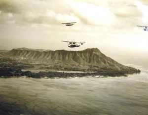 1930s flight over Diamond Head