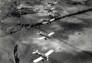 1939 A-12 Formation Over Oahu