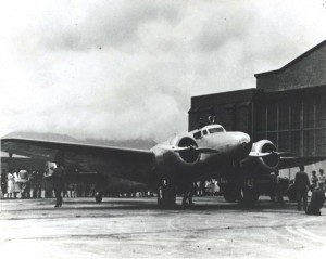 Amelia Earhart moved her plane to Ford Island for takeoff due to the rough surface at Wheeler Field. Amelia started her take off roll at 5:53 a.m. March 20, 1937. She was forced to quit when the right landing gear tire blew out.