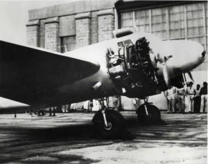 Amelia Earhart's Lockheed Electra at Wheeler Field, Oahu, March 19, 1937.
