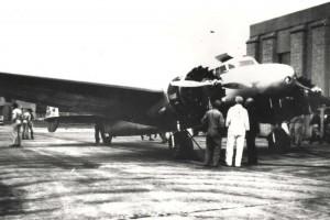 Amelia Earhart's Lockheed Electra at Wheeler Field, March 19, 1937.