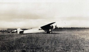 The Australian flying ace Charles Kingsford Smith flew with co-pilot Capt. P. G. Taylor from Suva, Fiji, to Wheeler Field, Honolulu, on October 29, 1934 in the Lady Southern Cross.