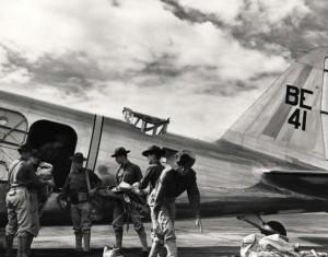 Loading aircraft at Hickam Field, c1938.