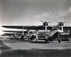 Inter-Island Airways planes on the runway at John Rodgers Field, Honolulu, c1936-1939.