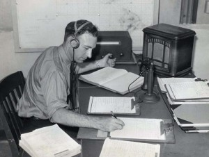 Inter-Island Airways, August 20, 1934. Pilot Gilbert L. Tefft records position and weather information.