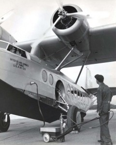 Inter-Island Airways. An air compressor is used to start the engine of an aircraft.