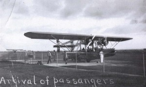 Arrival of passengers, John Rodgers Airport, 1930s.
