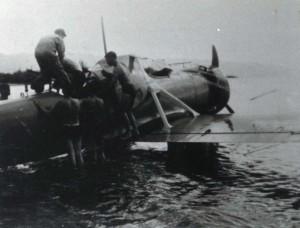 Army plane crash at Haleiwa, July 19, 1938.