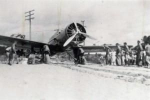 Plane crash at Haleiwa, July 19, 1938