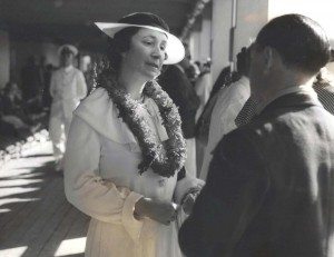 Mrs. Richard E. Byrd, wife of the famous Antarctic explorer, visited Hawaii, February 16, 1935.