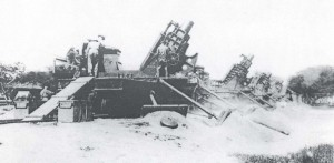 Fort Kamehameha 12-inch railroad mortars, 1930s.