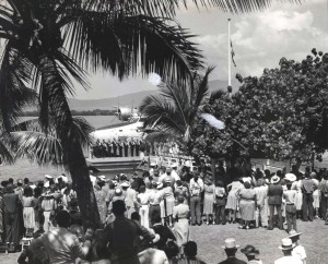 Christening ceremonies for Pan American Honolulu Clipper 1939