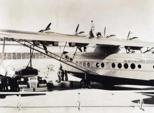 Pan American Clipper ship 1935.