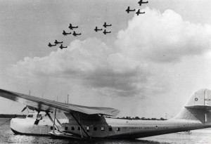 P-36 Fly Over Pan Am Clipper.