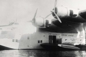 Pan American Airways Clipper ship delivered air mail.