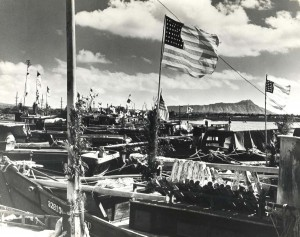 In the late 1930s, Kewalo Basin, Honolulu, was filled with sampan fishermen.
