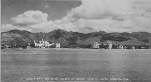 Royal Hawaiian Hotel in Waikiki Beach, December 15, 1934.