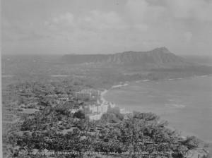 Waikiki with Diamond Head in the background, 1934.