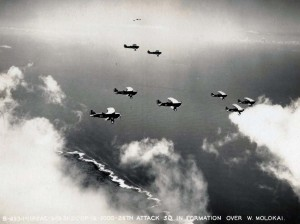 U.S. Army Air Corps A-3 Curtis Attack Plane, 26th attack squadron over West Molokai, March 13, 1931