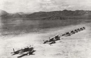 A-3 on Flight line at Wheeler Field, Oahu, c1930-1931.