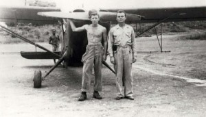 L-5 planes used to spray for mosquito control, Wheeler Field.