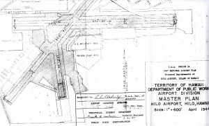 Hilo Airport Master Plan, February 26, 1947.