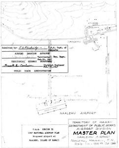 CAA Region IX, 1947 National Airport Plan, Proposed airport at Naalehu, Hawaii, Master Plan, February 26, 1947.