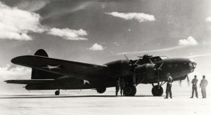 Boeing B-17 Flying Fortress at Hickam Field, 1946.