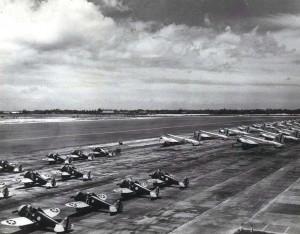 P-26 on flight line at Hickam Field, 1940.