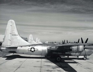 Convair B-32 Dominator stationed at Hickam Field, 1940s.