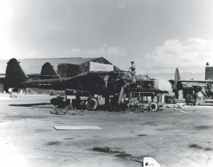 Maintenance of Northrup P-61 Black Widows at the Hawaiian Air Depot, Hickam Field, April 19, 1944.