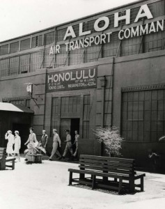 Air Transport Command building at Hickam Field, 1945.
