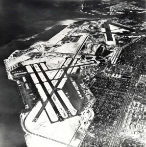 Aerial of Honolulu Airport, 1947.